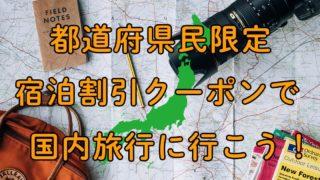 都道府県民限定宿泊割引クーポン